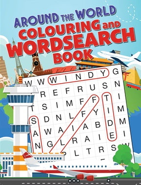 Around The World Colouring and Word Search Book