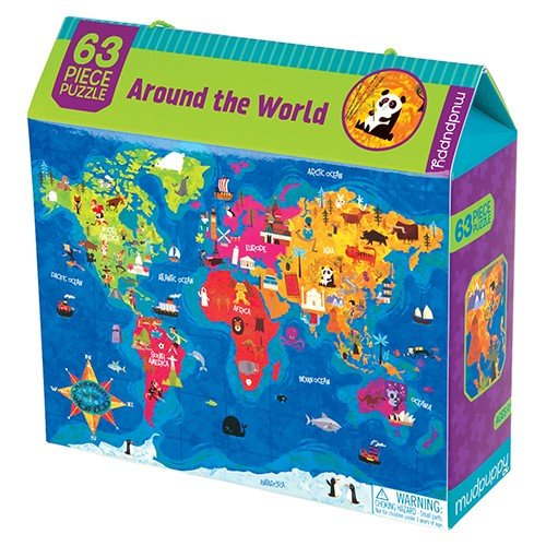 63 Piece Puzzle Around the World