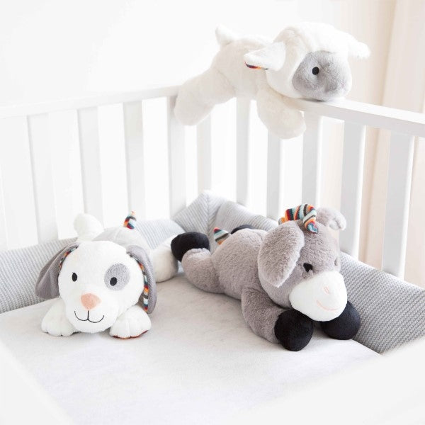ZAZU Plush Comforter Heartbeat and White Noise Baby Toy  Liz the Lamb