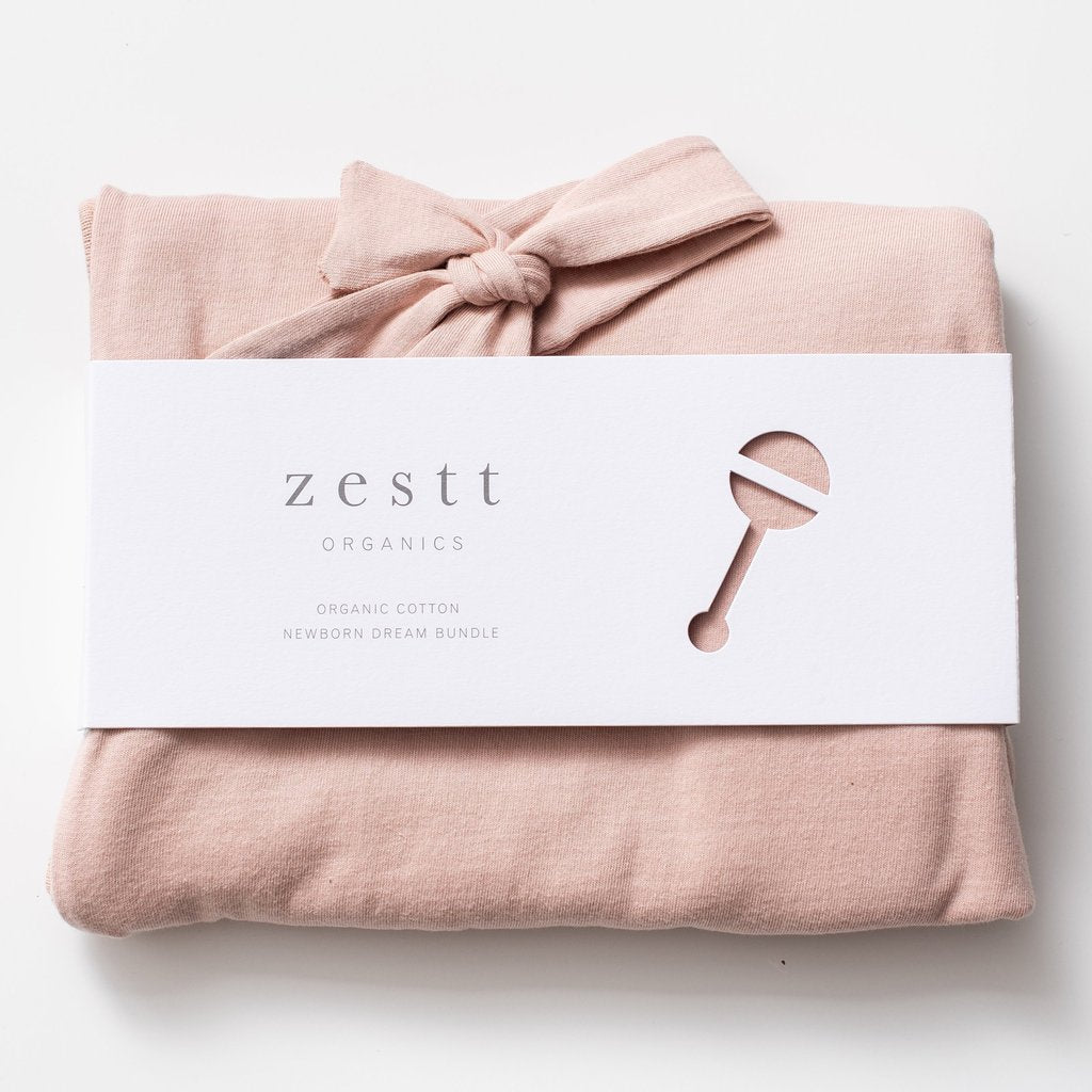 Zestt Organics - Organic Cotton Newborn Dream Bundle in Blush