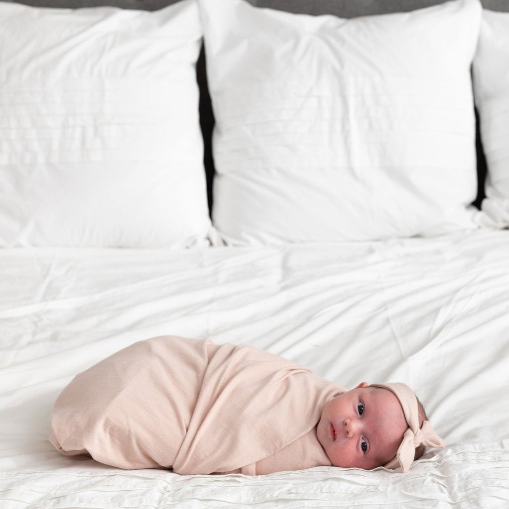 Zestt Organics Baby Blanket- Organic Cotton Newborn Dream Bundle in Blush