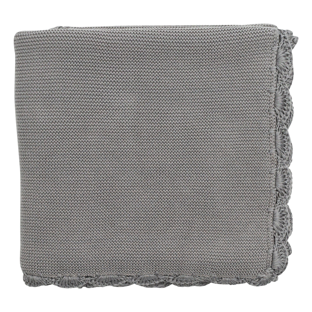Zestt Organics - Organic Cotton Heirloom Baby Blanket in Grey