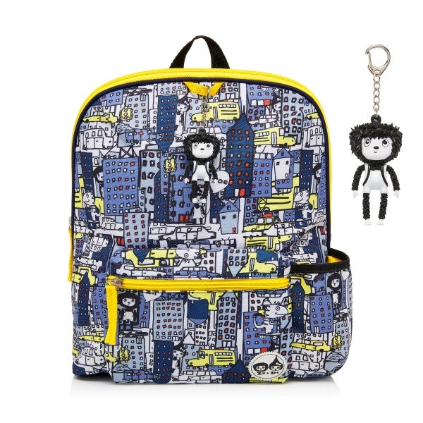 Zip and Zoe Kids Backpack City Print Navy