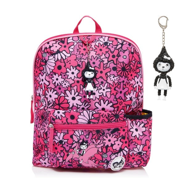 Zip and Zoe Kids Backpack Flowers Pink
