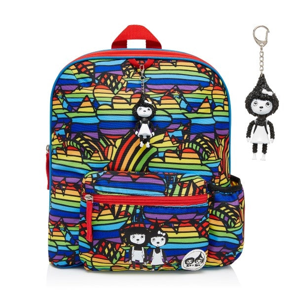 Zip and Zoe Kids Backpack Rainbow