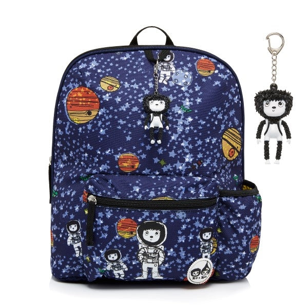 Zip and Zoe Kids Backpack Space Print