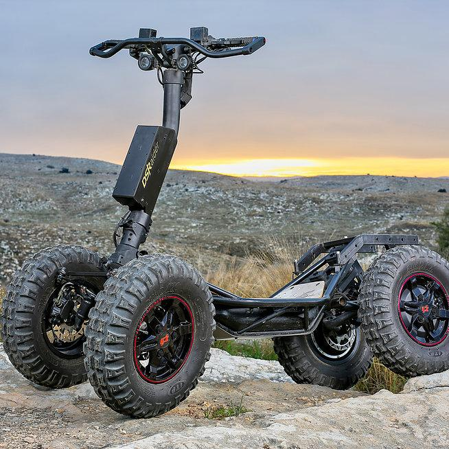 Unique design four-wheeled off-road vehicle