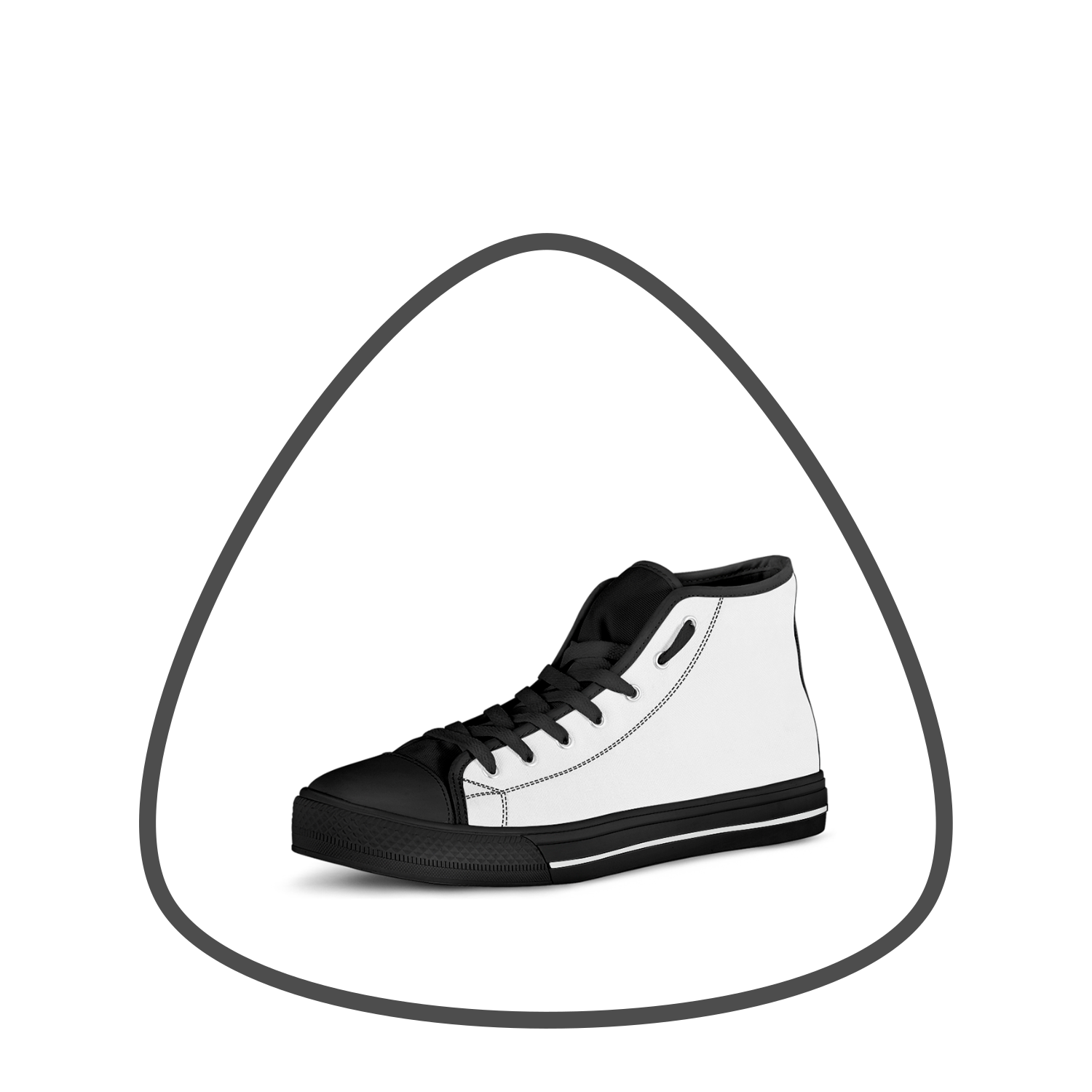 Tiffany Grey - High Top Canvas Sneakers
