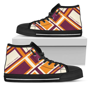 Tiffany Grey - High Top BrickLane Orange Sneakers for Her