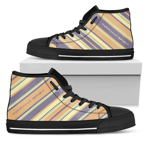 Tiffany Grey - High Top Candyman Fruity Macarons Sneakers for Her