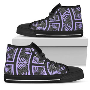 Tiffany Grey - High Top Junglenaut Ultraviolet Dream Sneakers for Her