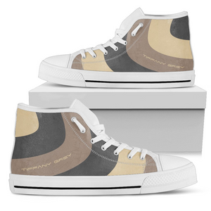 Tiffany Grey - High Top MyWay Camel Dessert Sneakers for Her