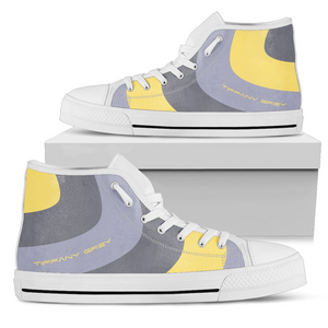 Tiffany Grey - High Top MyWay Gentle Bee Sneakers for Her