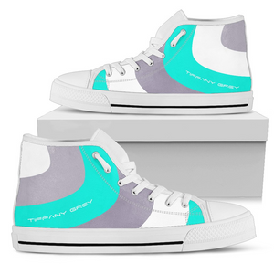 Tiffany Grey - High Top MyWay Grayland Sneakers for Her