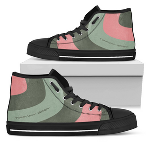 Tiffany Grey - High Top MyWay Peach Fox Sneakers for Her