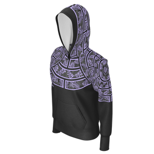 Tiffany Grey - Junglenaut Ultraviolet Dream Hoodie for Her [Lightweight]