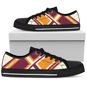 Tiffany Grey -Low Top BrickLane Orange Sneakers for Her