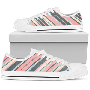 Tiffany Grey - Low Top Candyman Cotton Candy Sneakers for Her