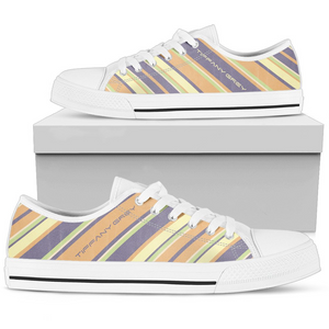 Tiffany Grey - Low Top Candyman Fruity Macarons Sneakers for Her