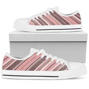 Tiffany Grey - Low Top Candyman Pink Brownies Sneakers for Her