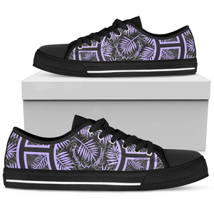 Tiffany Grey - Low Top Junglenaut Ultraviolet Dream Sneakers for Her