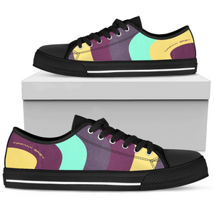 Tiffany Grey - Low Top MyWay Acid Flower Sneakers for Her