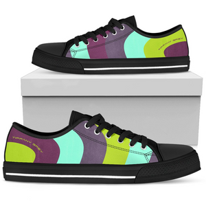 Tiffany Grey - Low Top MyWay Acid Garden Sneakers for Her