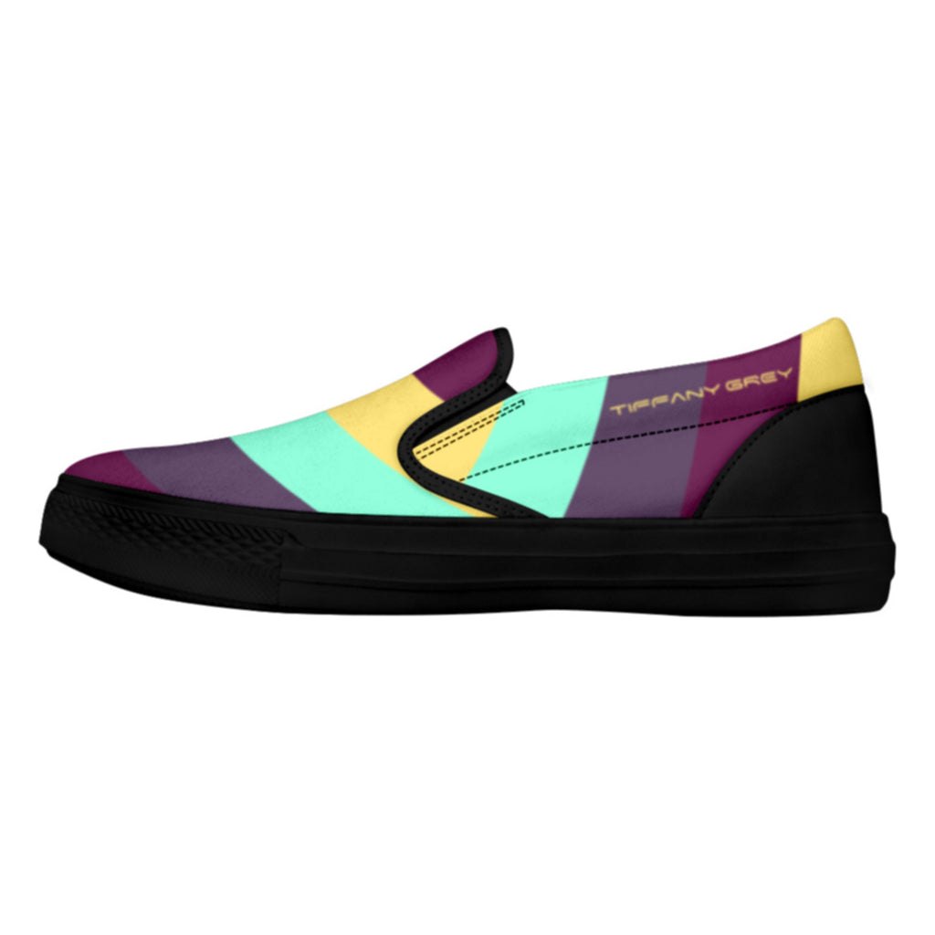 Tiffany Grey - Slip-On Shoes MyWay Acid Flower for Her