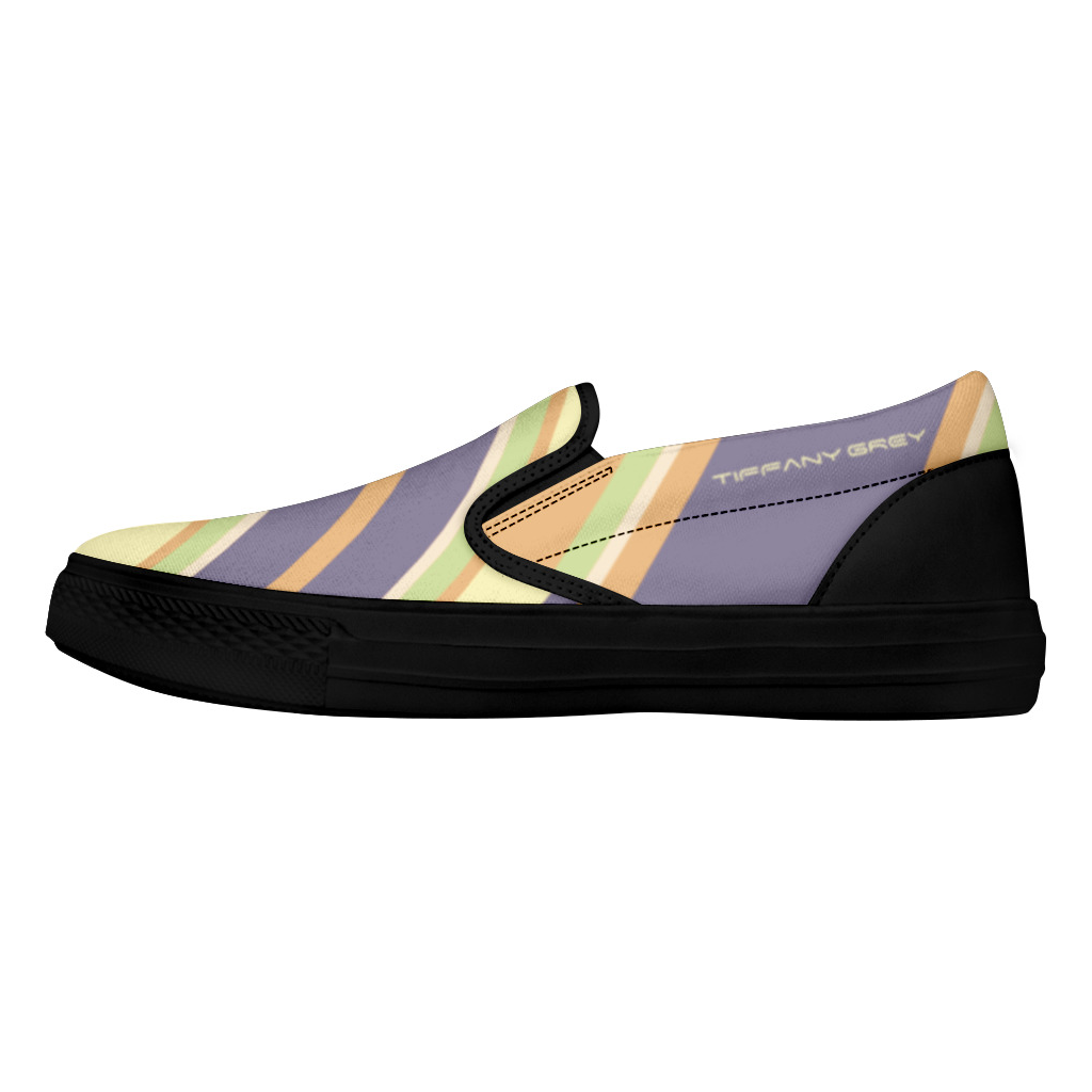 Tiffany Grey - Slip-On Shoes Candyman Fruity Macarons for Her