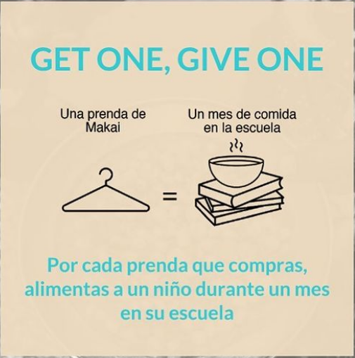 Nuestro modelo: Get one, Give one