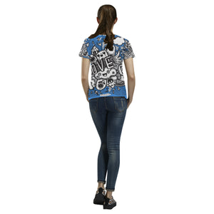 Womens All Over Printed T-Shirt