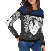 Womens Long Sleeved Printed Sweatshirt