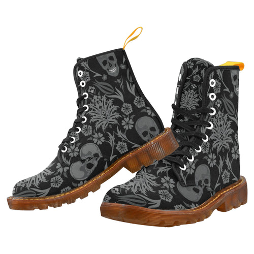 Skully Women's Lace Up Canvas Boots