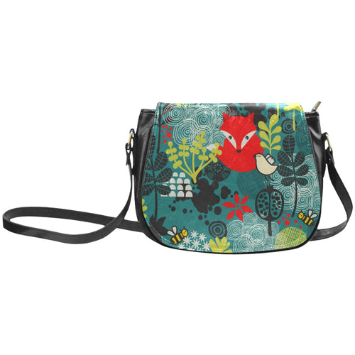 Fox in The Forest Classic Saddle Bag