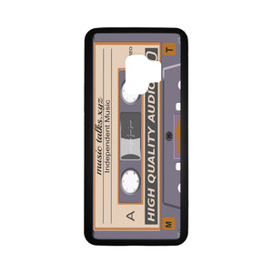 Cassette Laser Style Rubber Case for Samsung Galaxy S9 (With Hard Plastic Back)