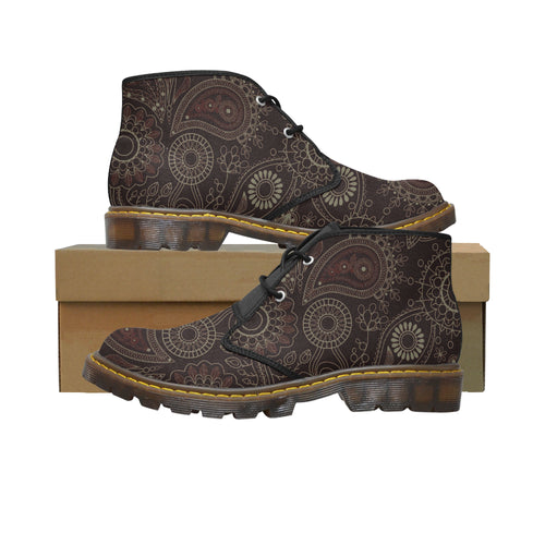 Rising Amber Women's Canvas Chukka Boots Large Size