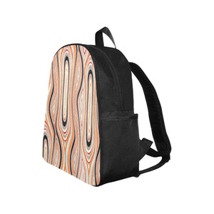 Abstract Swirl Multi-Pocket Backpack
