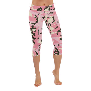 Pink Camo Capri Leggings