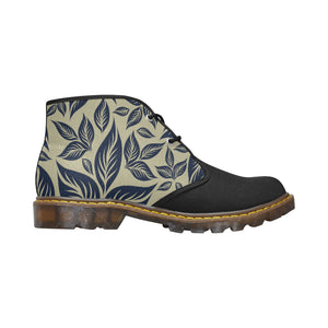 Leaves Women's Canvas Chukka Boots Large Size
