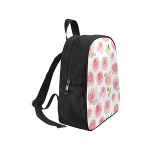 Blooming Roses Small Canvas Backpack