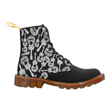 Womens Lace Up Canvas Boots