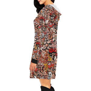 Graffiti Women's All Over Print Hoodie Mini Dress