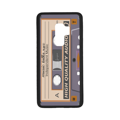 Cassette Laser Style Rubber Case for Samsung Galaxy S9 Plus (With Hard Plastic Back)