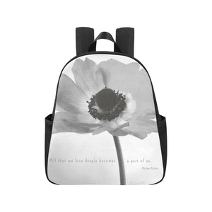 Nature flower letter Multi-Pocket Backpack