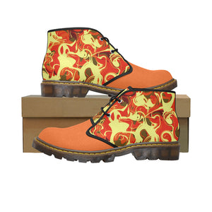 Orange Blast Women's Canvas Chukka Boots Large Size