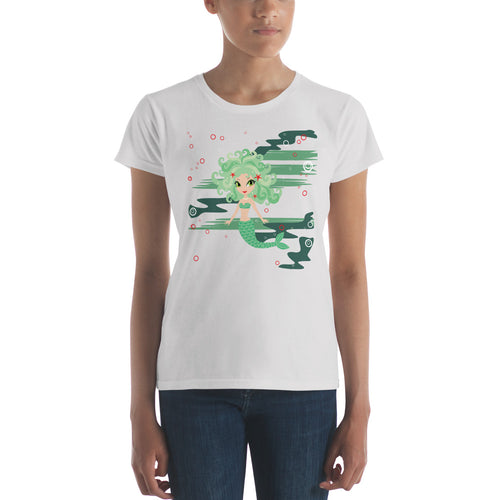 Green Mermaid Women's T-shirt