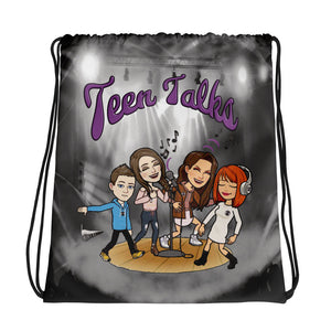 Teen Talks Drawstring bag
