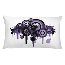 Music Talks Paint Splat Rectangular Pillow