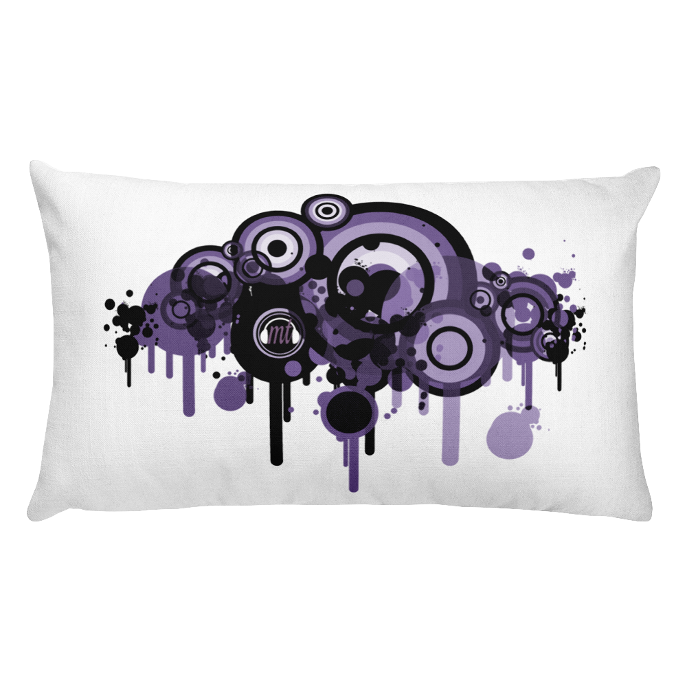Music Talks Throw Pillow