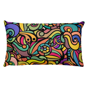Colourful Rectangular Throw Pillow